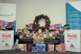 Sealed Air Corporation Donates to Toys for Tots Image