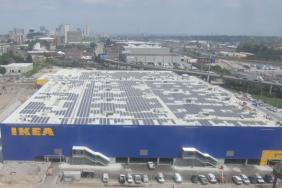 Installation of Solar Panels Complete Atop Future IKEA St. Louis Image