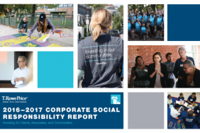 """T. Rowe Price Releases 2016""""""""2017 Corporate Social Responsibility Report Image"""