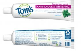 Tom's of Maine Brings First-of-its-Kind Recyclable Toothpaste Tube to the Oral Care Aisle Image