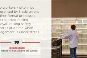 UK Supermarket Bosses Pressed on Employee Health & Safety by Human Rights Think Tank Image