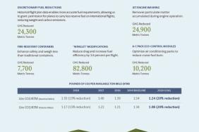 UPS Infographic   A Lower Carbon Footprint in the Air Image