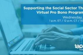 WEBINAR: Supporting the Social Sector Through Virtual Pro Bono Programming Image