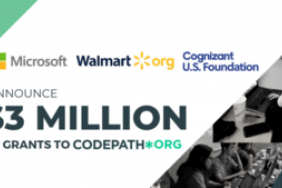 Cognizant U.S. Foundation, Walmart.org and Microsoft Philanthropies Partner to Increase Inclusion in the Technology Sector through Computer Science Education Image
