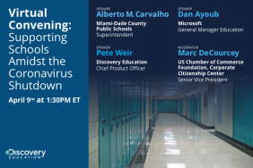 Corporate and Education Leaders to Discuss the Impact of COVID-19 on Education During Virtual Convening Hosted by Discovery Education Image