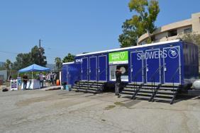 Kohler Relief Showering Trailer Travels to Los Angeles Image