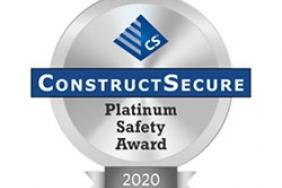 CRB Earns ConstructSecure Platinum Safety Award Image