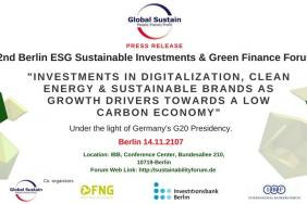 Global Sustain GmbH: 2nd Berlin ESG Investments & Green Finance Forum 2017 Image