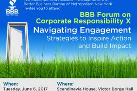 Corporate Responsibility Thought Leaders to Share Insights on Stakeholder Engagement, Trends at June 6 BBB Forum in NYC Image