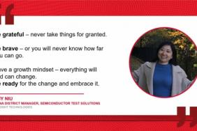 Keysight Technologies Celebrates Amy Niu, China District Manager for Semiconductor Solutions for Women's History Month Image