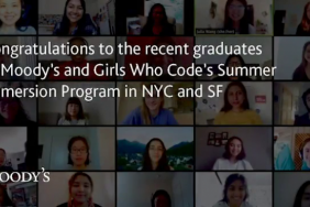 Moody's Congratulates the Participants in Girls Who Code Who Completed Their Summer Immersion Program Image