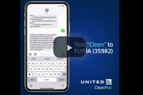 Passengers Can Now Text Cleaning and Safety Questions Directly to United Airlines Image