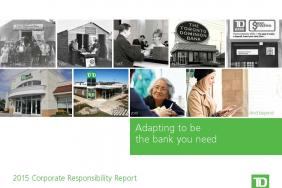 TD Bank Group Releases 2015 Corporate Responsibility Report Image