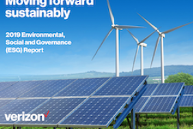Moving Forward Sustainably – Verizon Publishes 2019 Environmental, Social and Governance Report   Image
