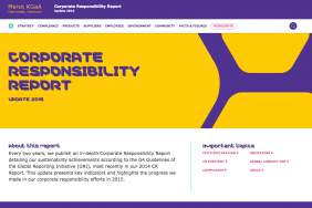 Merck KGaA, Darmstadt, Germany Publishes Corporate Responsibility Update 2015 Image