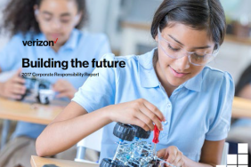 Verizon (NYSE:VZ) 2017 Corporate Responsibility Report Reveals Ambitious New Goals to Cut Carbon Intensity in Half From 2016 Levels and Invest up to $400 Million in Education Image