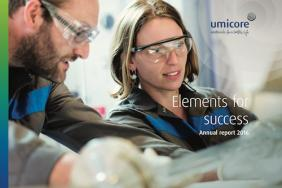 Umicore Publishes Integrated Report 2016: Elements for Success Image