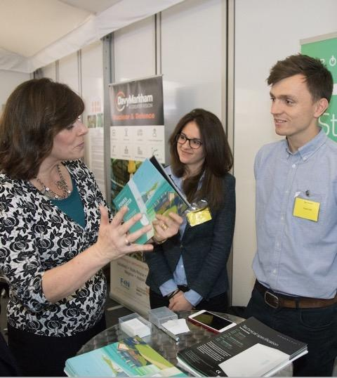 Claire Perry, Minister of State for Energy and Clean Growth; Ioanna Armouti and Nick Wood of Powervault