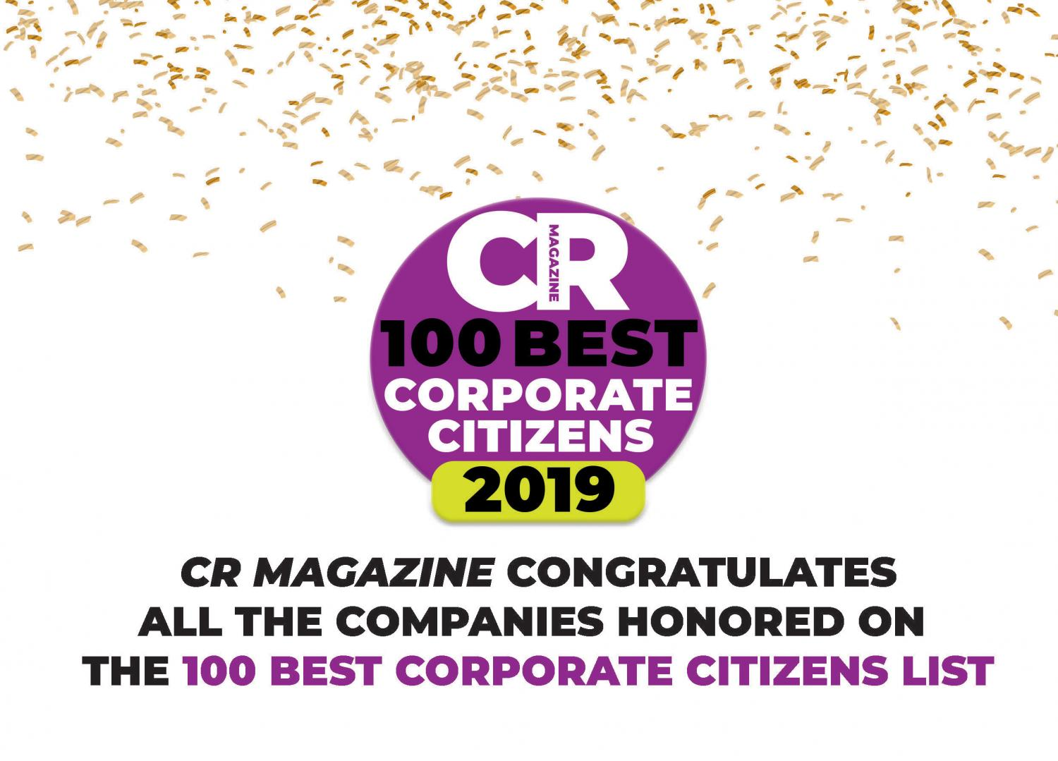 CR Magazine 100 Best Corporate Citizens of 2019