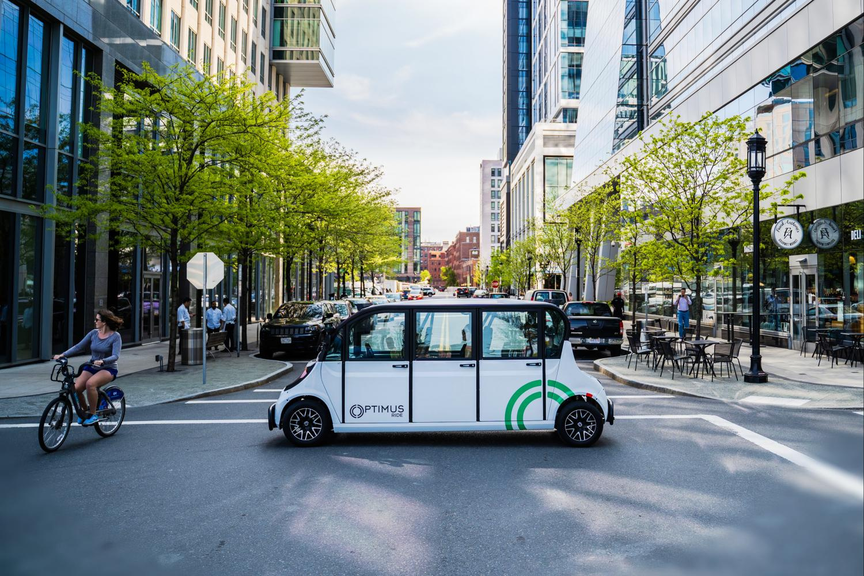 Optimus Ride's sustainable autonomous electric shuttle