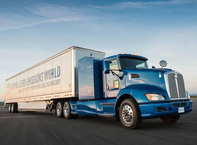 World's First Hydrogen Fuel Cell Truck Goes Up Against Tesla EV